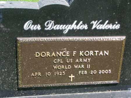 KORTAN, DORANCE F. (WW II) - Bon Homme County, South Dakota | DORANCE F. (WW II) KORTAN - South Dakota Gravestone Photos