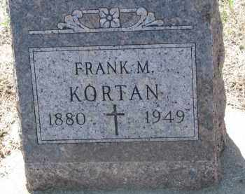 KORTAN, FRANK M. - Bon Homme County, South Dakota | FRANK M. KORTAN - South Dakota Gravestone Photos
