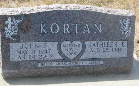KORTAN, JOHN F. - Bon Homme County, South Dakota | JOHN F. KORTAN - South Dakota Gravestone Photos