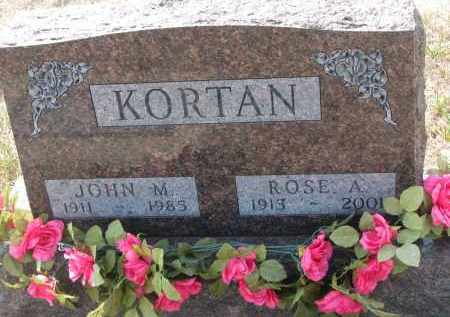 KORTAN, ROSE A. - Bon Homme County, South Dakota | ROSE A. KORTAN - South Dakota Gravestone Photos