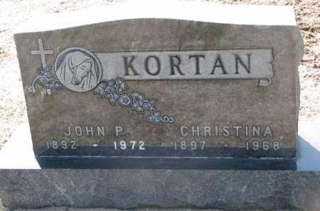 KORTAN, CHRISTINA - Bon Homme County, South Dakota | CHRISTINA KORTAN - South Dakota Gravestone Photos