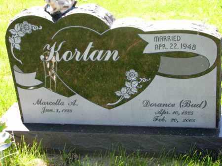 "KORTAN, DORANCE ""BUD"" - Bon Homme County, South Dakota | DORANCE ""BUD"" KORTAN - South Dakota Gravestone Photos"