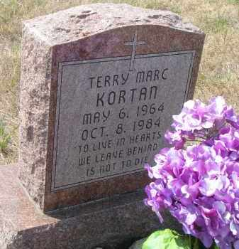 KORTAN, TERRY MARC - Bon Homme County, South Dakota | TERRY MARC KORTAN - South Dakota Gravestone Photos