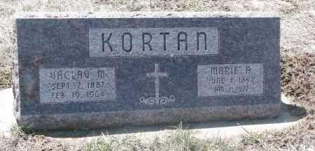 KORTAN, VACLAV M. - Bon Homme County, South Dakota | VACLAV M. KORTAN - South Dakota Gravestone Photos