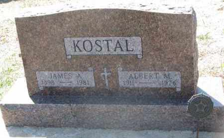KOSTAL, JAMES A. - Bon Homme County, South Dakota | JAMES A. KOSTAL - South Dakota Gravestone Photos