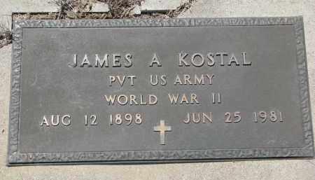 KOSTAL, JAMES A. (WW II) - Bon Homme County, South Dakota   JAMES A. (WW II) KOSTAL - South Dakota Gravestone Photos