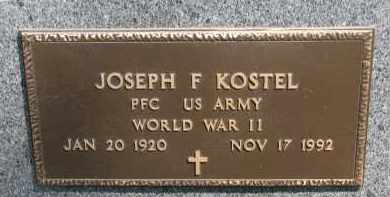 KOSTEL, JOSEPH F. (WW II) - Bon Homme County, South Dakota | JOSEPH F. (WW II) KOSTEL - South Dakota Gravestone Photos