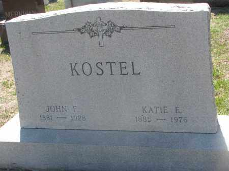 KOSTEL, JOHN F. - Bon Homme County, South Dakota | JOHN F. KOSTEL - South Dakota Gravestone Photos