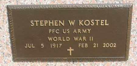 KOSTEL, STEPHEN W. (WW II) - Bon Homme County, South Dakota   STEPHEN W. (WW II) KOSTEL - South Dakota Gravestone Photos