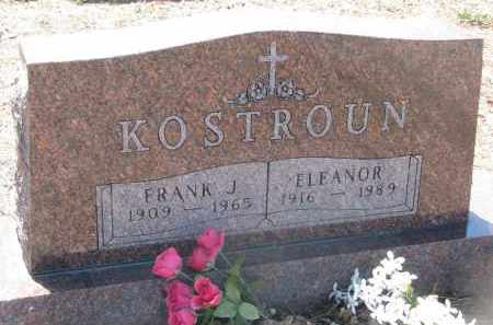 KOSTROUN, ELEANOR - Bon Homme County, South Dakota | ELEANOR KOSTROUN - South Dakota Gravestone Photos