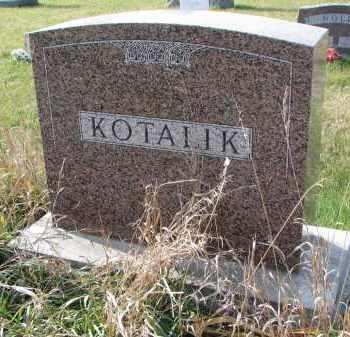 KOTALIK, FAMILY STONE - Bon Homme County, South Dakota | FAMILY STONE KOTALIK - South Dakota Gravestone Photos