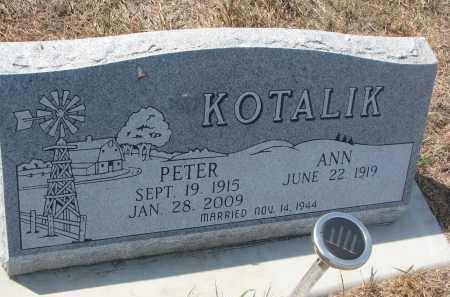KOTALIK, PETER - Bon Homme County, South Dakota   PETER KOTALIK - South Dakota Gravestone Photos