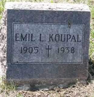 KOUPAL, EMIL L. - Bon Homme County, South Dakota | EMIL L. KOUPAL - South Dakota Gravestone Photos