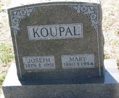 KOUPAL, JOSEPH - Bon Homme County, South Dakota | JOSEPH KOUPAL - South Dakota Gravestone Photos