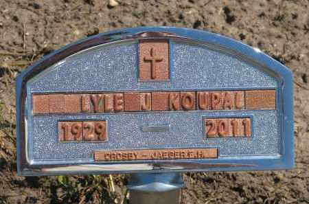 KOUPAL, LYLE J. - Bon Homme County, South Dakota | LYLE J. KOUPAL - South Dakota Gravestone Photos