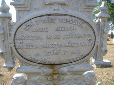 KOZLOVA, MARIE (CLOSEUP) - Bon Homme County, South Dakota | MARIE (CLOSEUP) KOZLOVA - South Dakota Gravestone Photos