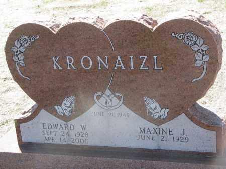 KRONAIZL, EDWARD W. - Bon Homme County, South Dakota | EDWARD W. KRONAIZL - South Dakota Gravestone Photos