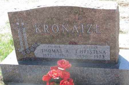 KRONAIZL, THOMAS A. - Bon Homme County, South Dakota | THOMAS A. KRONAIZL - South Dakota Gravestone Photos