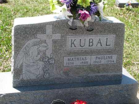 KUBAL, PAULINE - Bon Homme County, South Dakota | PAULINE KUBAL - South Dakota Gravestone Photos