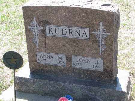 KUDRNA, ANNA M. - Bon Homme County, South Dakota | ANNA M. KUDRNA - South Dakota Gravestone Photos
