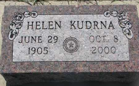 KUDRNA, HELEN - Bon Homme County, South Dakota   HELEN KUDRNA - South Dakota Gravestone Photos