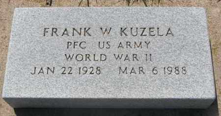 KUZELA, FRANK W. (WW II) - Bon Homme County, South Dakota | FRANK W. (WW II) KUZELA - South Dakota Gravestone Photos