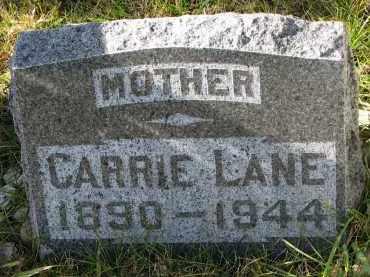 LANE, CARRIE - Bon Homme County, South Dakota | CARRIE LANE - South Dakota Gravestone Photos