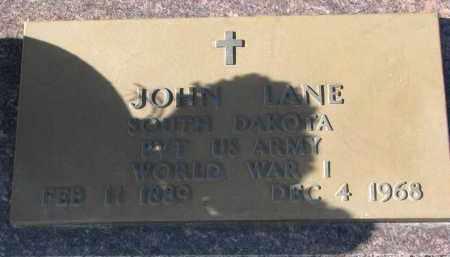 LANE, JOHN (WW I) - Bon Homme County, South Dakota | JOHN (WW I) LANE - South Dakota Gravestone Photos