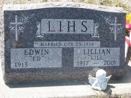 LIHS, EDWIN - Bon Homme County, South Dakota | EDWIN LIHS - South Dakota Gravestone Photos