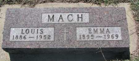 MACH, EMMA - Bon Homme County, South Dakota   EMMA MACH - South Dakota Gravestone Photos
