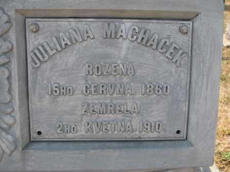 MACHACEK, JULIANA (CLOSEUP) - Bon Homme County, South Dakota | JULIANA (CLOSEUP) MACHACEK - South Dakota Gravestone Photos