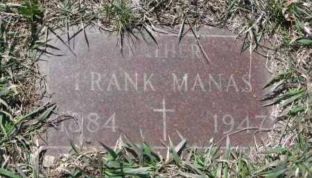 MANAS, FRANK - Bon Homme County, South Dakota | FRANK MANAS - South Dakota Gravestone Photos