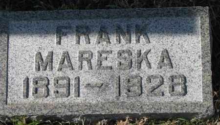 MARESKA, FRANK - Bon Homme County, South Dakota | FRANK MARESKA - South Dakota Gravestone Photos