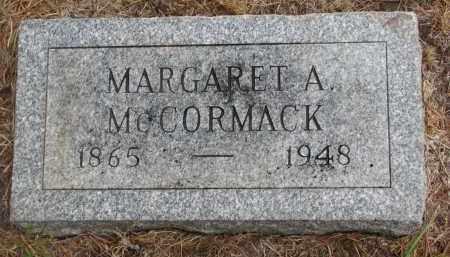 MCCORMACK, MARGARET A. - Bon Homme County, South Dakota   MARGARET A. MCCORMACK - South Dakota Gravestone Photos