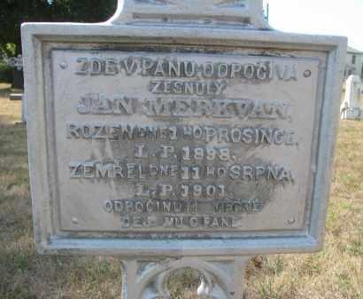 MERKVAN, JAN - Bon Homme County, South Dakota   JAN MERKVAN - South Dakota Gravestone Photos