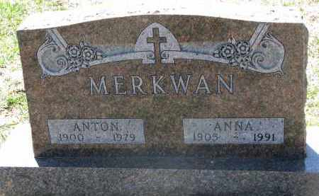 MERKWAN, ANTON - Bon Homme County, South Dakota | ANTON MERKWAN - South Dakota Gravestone Photos