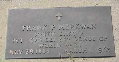 MERKWAN, FRANK P. (WW I) - Bon Homme County, South Dakota | FRANK P. (WW I) MERKWAN - South Dakota Gravestone Photos