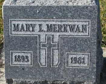 MERKWAN, MARY L. - Bon Homme County, South Dakota | MARY L. MERKWAN - South Dakota Gravestone Photos