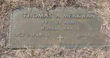 MERKWAN, THOMAS A. (WW I) - Bon Homme County, South Dakota | THOMAS A. (WW I) MERKWAN - South Dakota Gravestone Photos