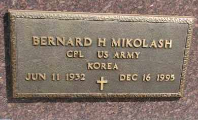 MIKOLASH, BERNARD H. (MILITARY) - Bon Homme County, South Dakota | BERNARD H. (MILITARY) MIKOLASH - South Dakota Gravestone Photos