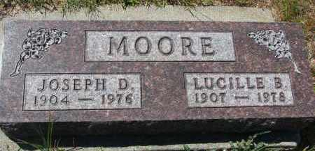 MOORE, LUCILLE B. - Bon Homme County, South Dakota | LUCILLE B. MOORE - South Dakota Gravestone Photos