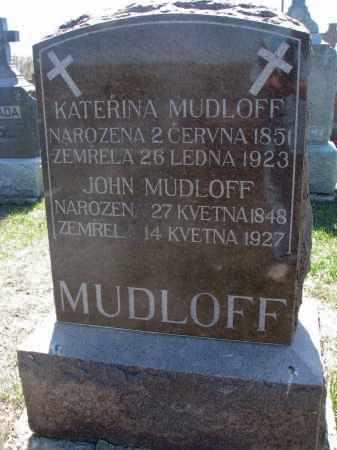 MUDLOFF, KATERINA - Bon Homme County, South Dakota | KATERINA MUDLOFF - South Dakota Gravestone Photos