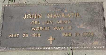 NAVRATIL, JOHN (WW II) - Bon Homme County, South Dakota | JOHN (WW II) NAVRATIL - South Dakota Gravestone Photos