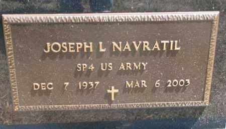 NAVRATIL, JOSEPH L. (MILITARY) - Bon Homme County, South Dakota   JOSEPH L. (MILITARY) NAVRATIL - South Dakota Gravestone Photos