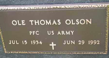 OLSON, OLE THOMAS (MILITARY) - Bon Homme County, South Dakota | OLE THOMAS (MILITARY) OLSON - South Dakota Gravestone Photos