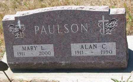 PAULSON, ALAN C. - Bon Homme County, South Dakota | ALAN C. PAULSON - South Dakota Gravestone Photos