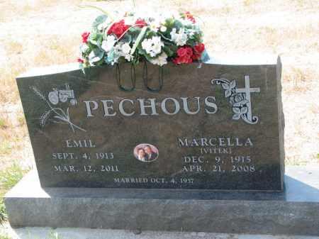 VITEK PECHOUS, MARCELLA - Bon Homme County, South Dakota | MARCELLA VITEK PECHOUS - South Dakota Gravestone Photos