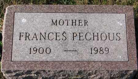PECHOUS, FRANCES - Bon Homme County, South Dakota   FRANCES PECHOUS - South Dakota Gravestone Photos
