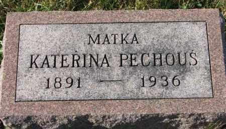 HLAVAC PECHOUS, KATERINA - Bon Homme County, South Dakota | KATERINA HLAVAC PECHOUS - South Dakota Gravestone Photos