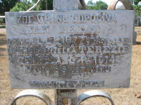 PEKAR, JAN (CLOSEUP) - Bon Homme County, South Dakota   JAN (CLOSEUP) PEKAR - South Dakota Gravestone Photos